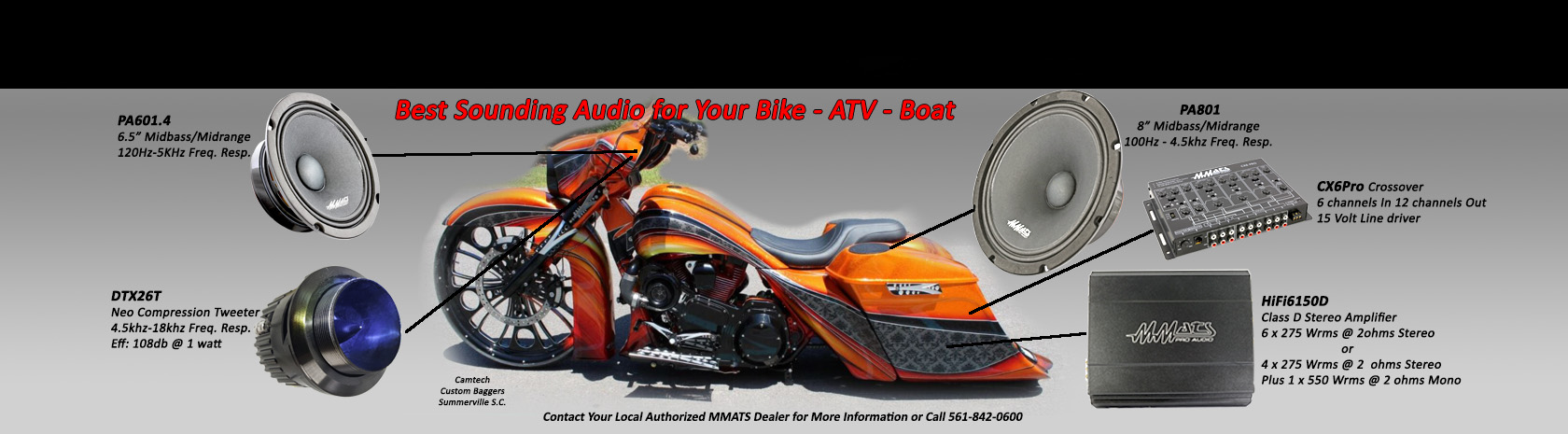 Bagger Audio and Motorcycle sound systems